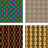 Geometrisch patroon, oud document Stock Foto