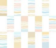 Geometrisch patroon, overzees en zand Stock Afbeeldingen