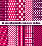 Geometrisch patroon tien Stock Afbeeldingen