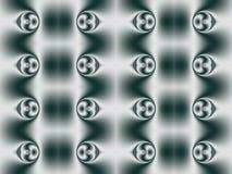 Geometrisch patroon van bellen met Centrale symmetrie vector illustratie