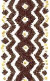 Geometrisch patroon van rijst en graankorrels Stock Foto's