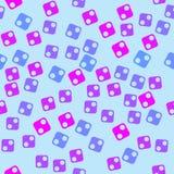 Geometrisch patroon van vierkanten en cirkels vector illustratie