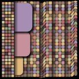 Geometrisch patroon, vierkante reeks, de tegel van de kleurenmengeling Royalty-vrije Stock Afbeeldingen