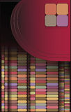 Geometrisch patroon, vierkante reeks, kleurentegels Stock Foto's
