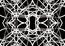 Geometrisch Patroon in Zwart-wit royalty-vrije illustratie