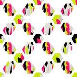 Geometrisch penseelstreken naadloos patroon stock illustratie