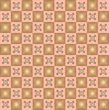 Geometrisch pixelpatroon. Wijnoogst. Naadloos Stock Afbeeldingen