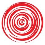 Geometrisch radiaal element royalty-vrije illustratie