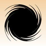Geometrisch radiaal element Abstracte concentrische, radiale geometrisch royalty-vrije illustratie