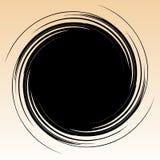 Geometrisch radiaal element Abstracte concentrische, radiale geometrisch vector illustratie