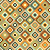 Geometrisch retro naadloos patroon Stock Fotografie