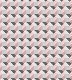 Geometrisch roze en grijs naadloos vectordiepatroon door moderne tegels wordt geïnspireerd royalty-vrije illustratie