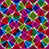 Geometrisch slordig gevoerd naadloos patroon, heldere transparante vector vector illustratie