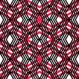 Geometrisch slordig gevoerd naadloos patroon, kleurrijke labyrintvector Stock Afbeeldingen