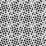 Geometrisch slordig gevoerd naadloos patroon, zwart-wit vector endles stock illustratie
