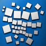 Geometrisch suprematismpatroon Blauw en wit Royalty-vrije Stock Afbeelding