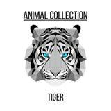 Geometrisch tijgerhoofd Stock Afbeelding