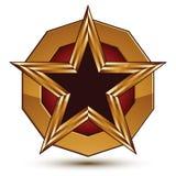 Geometrisch vector betoverend gouden die element op witte rug wordt geïsoleerd Stock Afbeeldingen