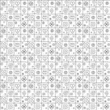 Geometrisch vector naadloos patroon met verschillende geometrische hand getrokken vormen Vierkant, driehoek, rechthoek, punten, c stock illustratie