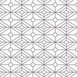 Geometrisch vectorpatroon, die lineaire diamantvorm met ovale vorm herhalen op centrum Grafische schoon voor behang, stof vector illustratie