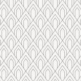 Geometrisch vectorpatroon, die vierkante diamantvorm met boog of abstracte schaalvissen of draak herhalen royalty-vrije illustratie