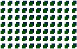 Geometrisch vierkant als achtergrond op elkaar groenachtig blauw op witte achtergrond, abstract patroon Royalty-vrije Stock Afbeelding