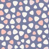 Geometrisch vlekken vector naadloos patroon Blauw, roze, nam, koraal toe Royalty-vrije Stock Fotografie