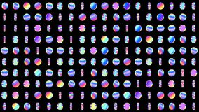 Geometrisch voorzag patroon met roterende holografische cirkels voor abstracte discoachtergrond van een lus Van een lus voorzien  royalty-vrije illustratie