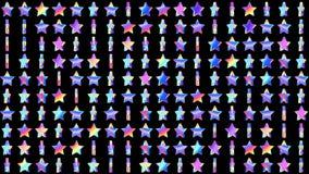 Geometrisch voorzag patroon met roterende holografische Sterren voor abstracte moderne discoachtergrond van een lus Van een lus v royalty-vrije illustratie