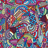 Geometrisch vormen naadloos patroon Royalty-vrije Stock Afbeeldingen