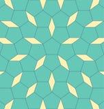 Geometrisch vormpentagoon met ruit Abstracte vectoreps 10 illustratie stock illustratie
