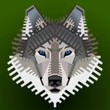 Geometrisch wolfsgezicht Royalty-vrije Stock Fotografie