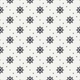 Geometrisch zeevaart naadloos patroon als achtergrond met stuurwiel Vectorillustratietextuur voor ontwerp, behang Royalty-vrije Stock Afbeeldingen