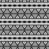 Geometrisch zwart-wit patroon Stock Foto