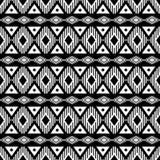 Geometrisch zwart-wit patroon Stock Afbeelding