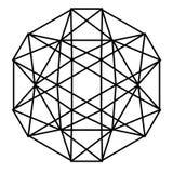 Geometrisch zwart-wit vectorpatroon royalty-vrije illustratie