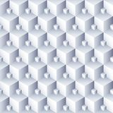 Geometrische abstracte achtergrond 3d kubussenpatroon Volume hexagon naadloze textuur stock illustratie