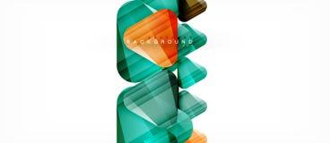 Geometrische abstracte achtergrond, driehoeken royalty-vrije illustratie