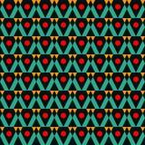 Geometrische abstracte de kwaliteits vectorillustratie van het kleuren naadloze patroon voor uw ontwerp Stock Afbeelding