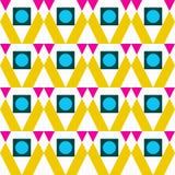 Geometrische abstracte de kwaliteits vectorillustratie van het kleuren naadloze patroon voor uw ontwerp Royalty-vrije Stock Fotografie