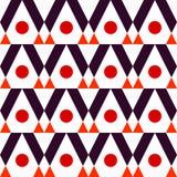 Geometrische abstracte de kwaliteits vectorillustratie van het kleuren naadloze patroon voor uw ontwerp Stock Fotografie