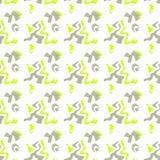 Geometrische abstracte de kwaliteits vectorillustratie van het kleuren naadloze patroon voor uw ontwerp Stock Foto's