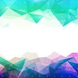 Geometrische abstracte lage polyachtergrond Stock Afbeeldingen