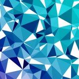 Geometrische abstracte mozaïek koude achtergrond Royalty-vrije Stock Fotografie