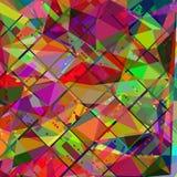 Geometrische abstracte rondes, rechthoeken en lijnenachtergrond, beeld Stock Foto's