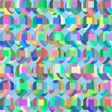 Geometrische abstracte rondes, rechthoeken en lijnenachtergrond, ve Stock Foto's