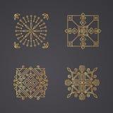 Geometrische abstracte vierkante pictogrammen Stock Foto