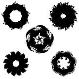 Geometrische abstractie zwarte inkt Royalty-vrije Stock Afbeeldingen