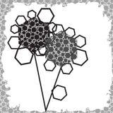 Geometrische abstrakte Blumen Lizenzfreie Abbildung