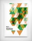Geometrische abstrakte Geschäftsschablone Stockbild